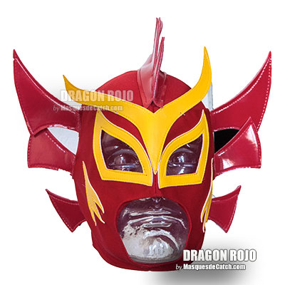 "Masque de Catch ""Dragon Rojo"" en Tissus"