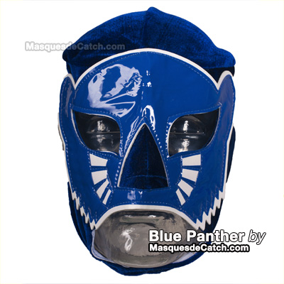 "Masque de Catch ""Blue Panther"" en velours"