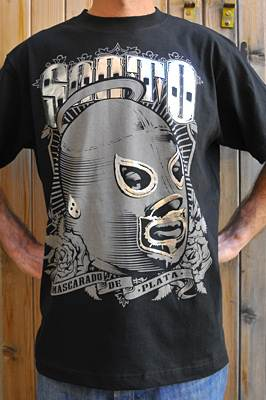 "T-shirt catch ""Santo Mascara de Plata"""