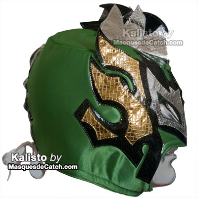 "Masque de Catch ""Kalisto"" Adulte coul. Vert - deguisement"