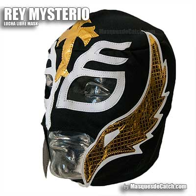 Masque de Catch Rey Mysterio, Adulte - en tissu