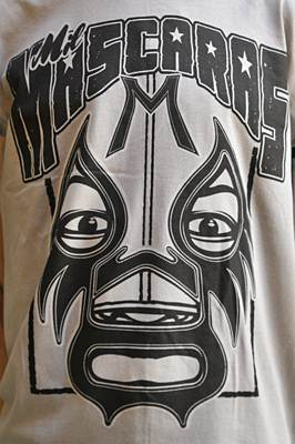 "T-shirt catch ""Mil Mascaras"" gris"