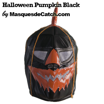 Masque Halloween Pumpkin Black