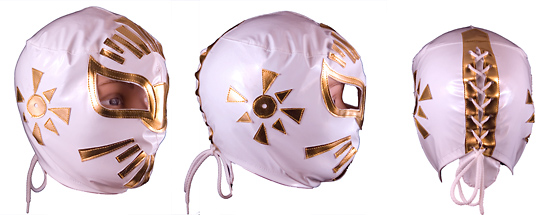 Masque de Catch Mistico Blanc - enfant
