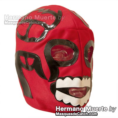 "Masque de Catch ""Hermano Muerte"" en tissus"